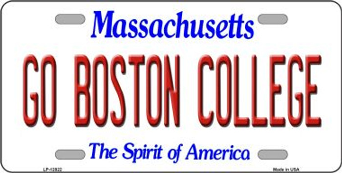 Go Boston College Novelty Metal License Plate LP-12822
