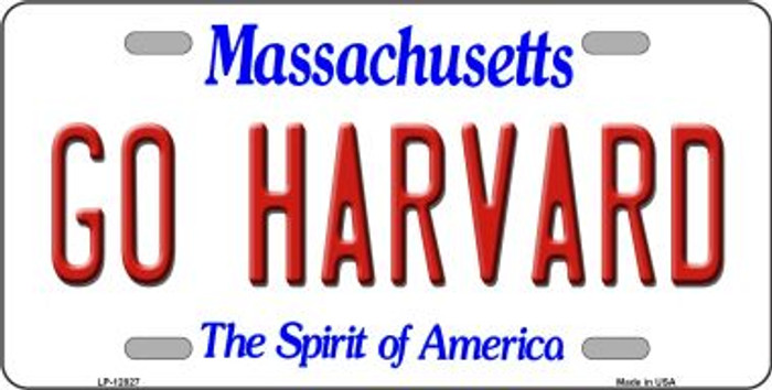 Go Harvard Novelty Metal License Plate LP-12827