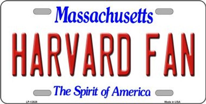 Harvard Fan Novelty Metal License Plate LP-12828