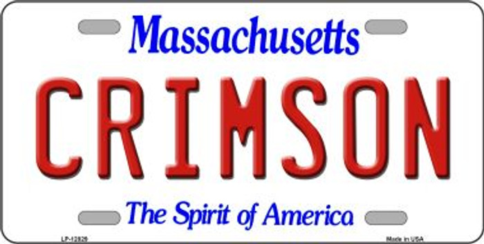 Crimson Novelty Metal License Plate LP-12829