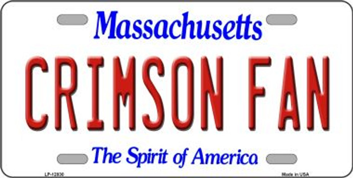 Crimson Fan Novelty Metal License Plate LP-12830