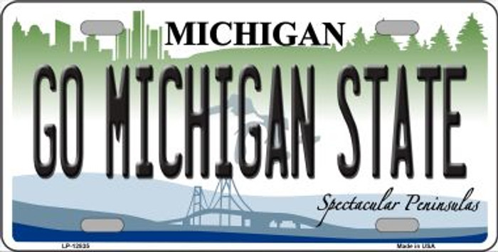 Go Michigan State Novelty Metal License Plate LP-12835