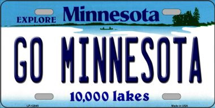 Go Minnesota Novelty Metal License Plate LP-12845