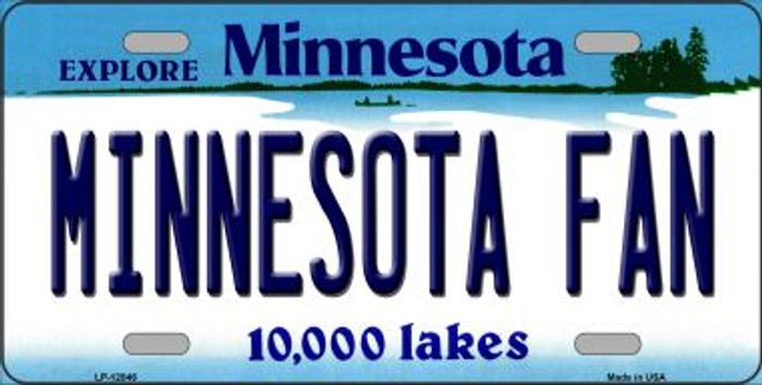 Minnesota Fan Novelty Metal License Plate LP-12846