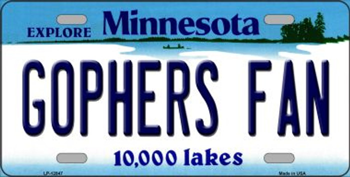 Gophers Fan Novelty Metal License Plate LP-12847