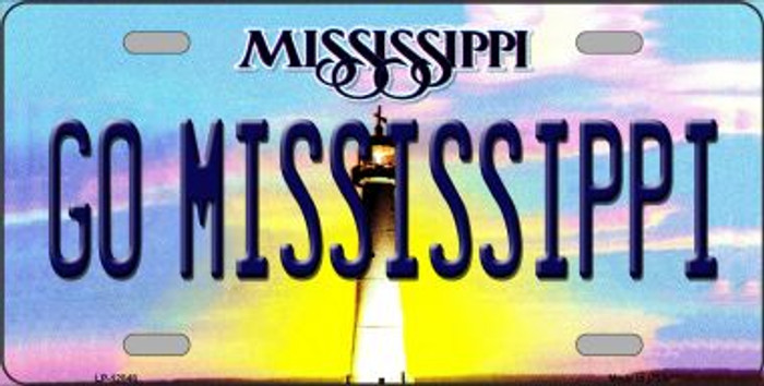 Go Mississippi Novelty Metal License Plate LP-12848