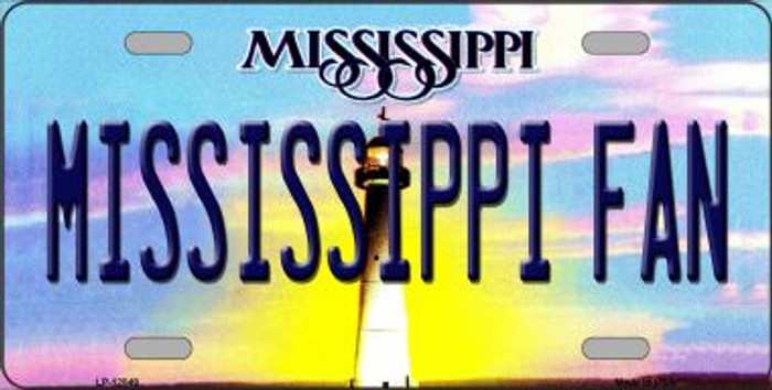 Mississippi Fan Novelty Metal License Plate LP-12849