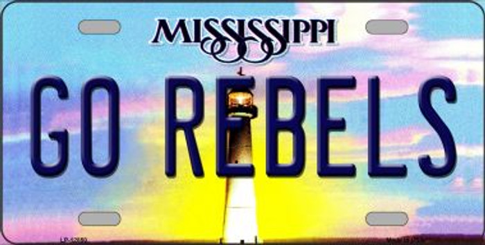 Go Rebels Novelty Metal License Plate LP-12850