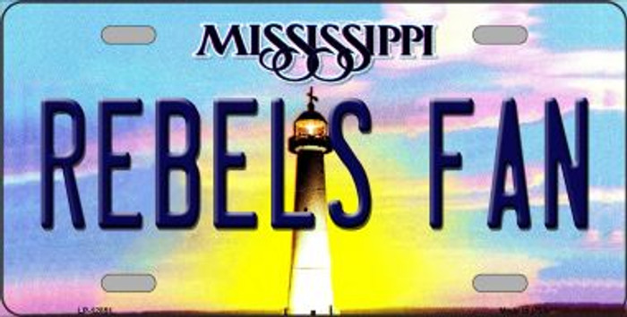 Rebels Fan Novelty Metal License Plate LP-12851