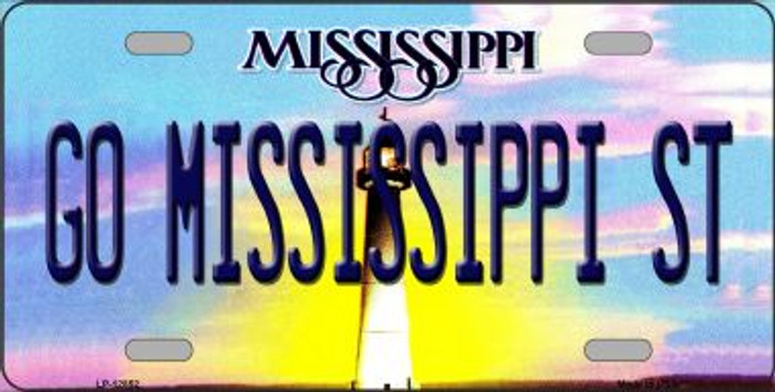 Go Mississippi State Novelty Metal License Plate LP-12852