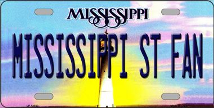 Mississippi State Fan Novelty Metal License Plate LP-12853