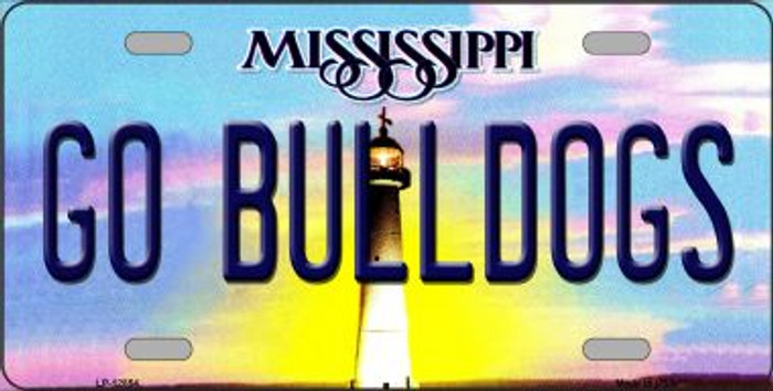 Go Bulldogs Novelty Metal License Plate LP-12854