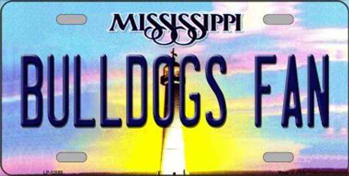 Bulldogs Fan Novelty Metal License Plate LP-12855