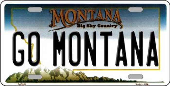 Go Montana Novelty Metal License Plate LP-12859