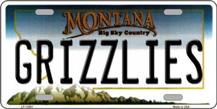 Grizzlies Novelty Metal License Plate LP-12861