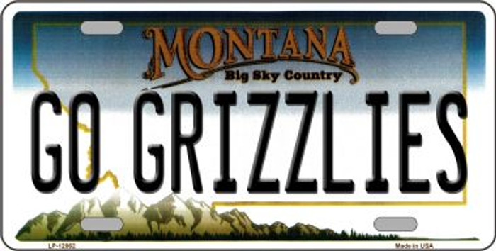 Go Grizzlies Novelty Metal License Plate LP-12862