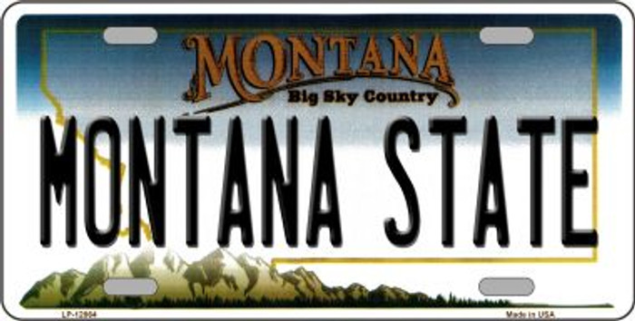 Montana State Novelty Metal License Plate LP-12864