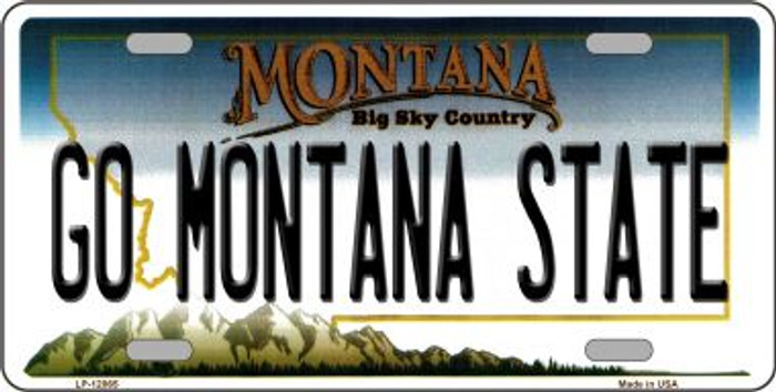 Go Montana State Novelty Metal License Plate LP-12865