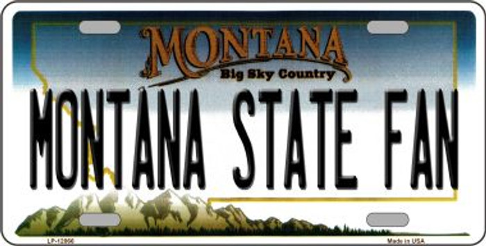 Montana State Fan Novelty Metal License Plate LP-12866