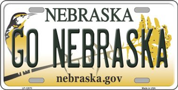 Go Nebraska Novelty Metal License Plate LP-12870