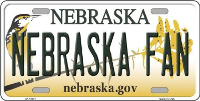 Nebraska Fan Novelty Metal License Plate LP-12871