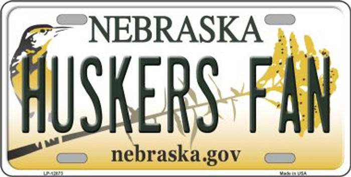 Huskers Fan Novelty Metal License Plate LP-12873