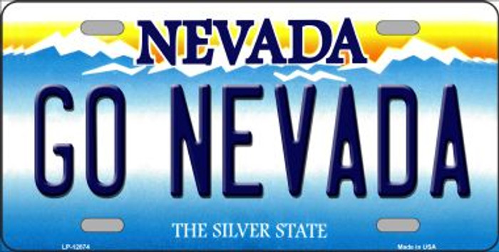 Go Nevada Novelty Metal License Plate LP-12874