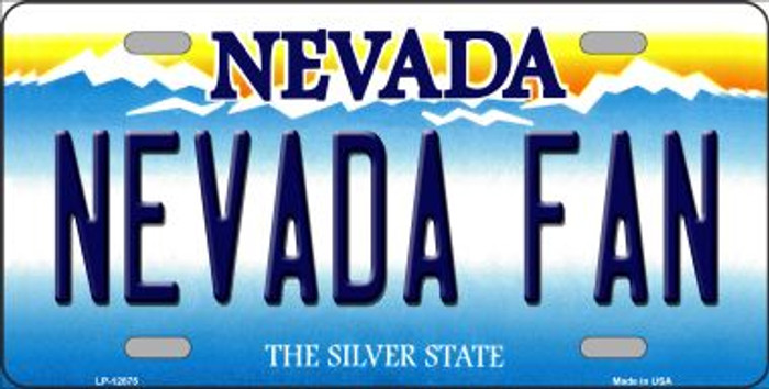 Nevada Fan Novelty Metal License Plate LP-12875