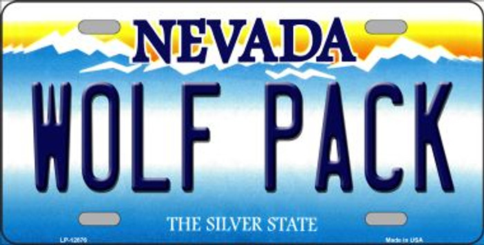 Wolf Pack Novelty Metal License Plate LP-12876