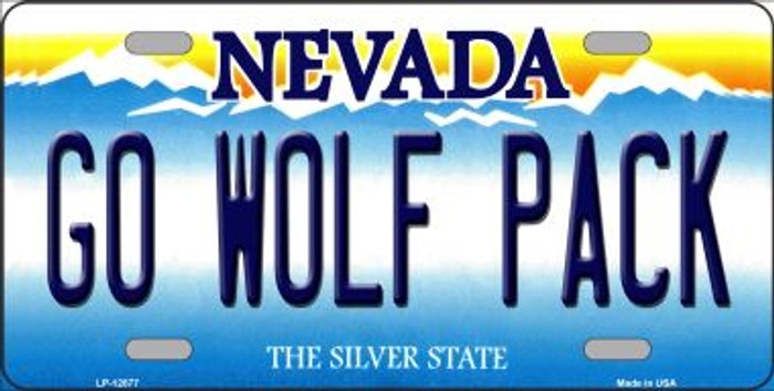 Go Wolf Pack Novelty Metal License Plate LP-12877