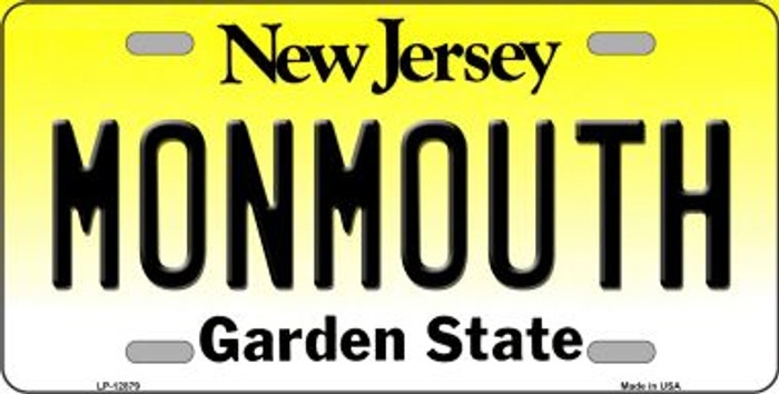 Monmouth Novelty Metal License Plate LP-12879