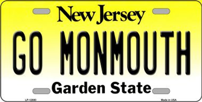 Monmouth Fan Novelty Metal License Plate LP-12881