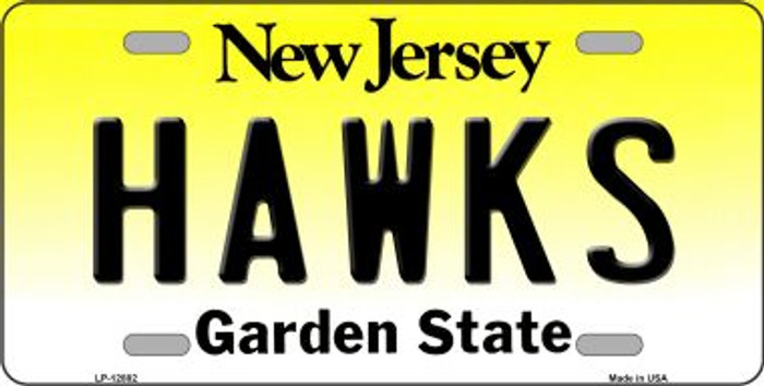 Hawks Novelty Metal License Plate LP-12882