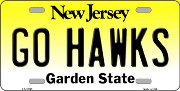 Go Hawks Novelty Metal License Plate LP-12883