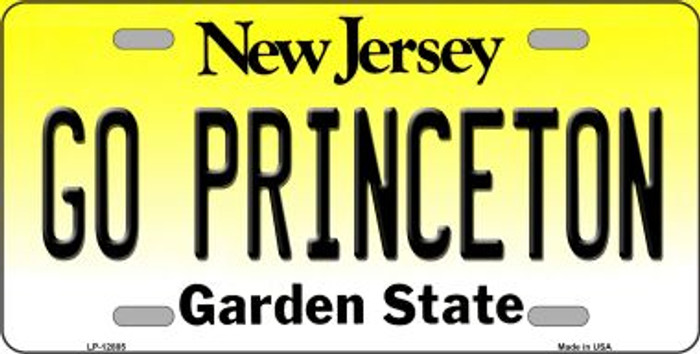 Go Princeton Novelty Metal License Plate LP-12885