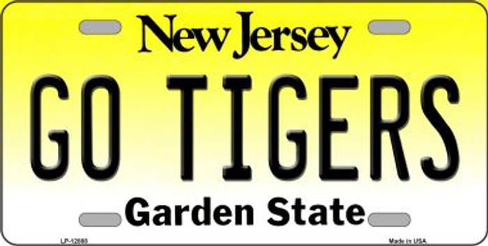 Go Tigers Novelty Metal License Plate LP-12888