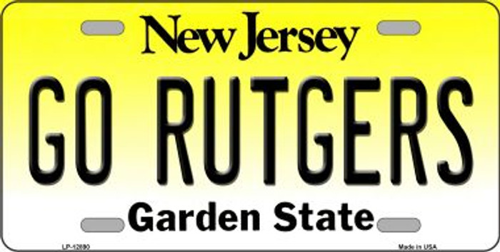Go Rutgers Novelty Metal License Plate LP-12890