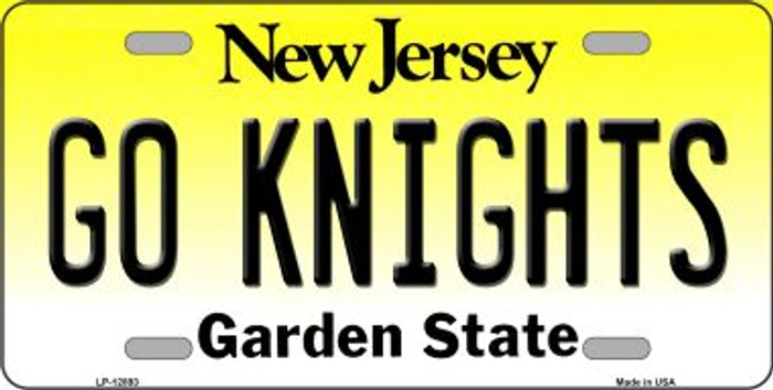 Go Knights Novelty Metal License Plate LP-12893