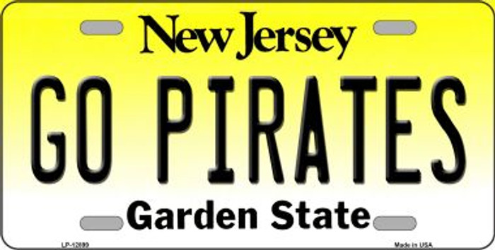 Go Pirates Novelty Metal License Plate LP-12899
