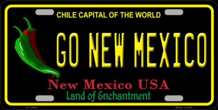 Go New Mexico Novelty Metal License Plate LP-12901