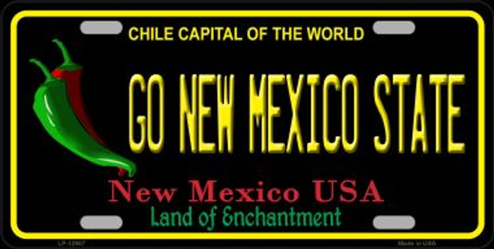 Go New Mexico State Novelty Metal License Plate LP-12907