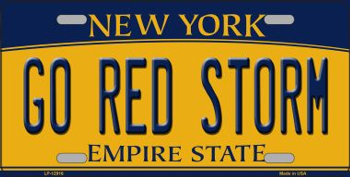 Go Red Storm Novelty Metal License Plate LP-12916