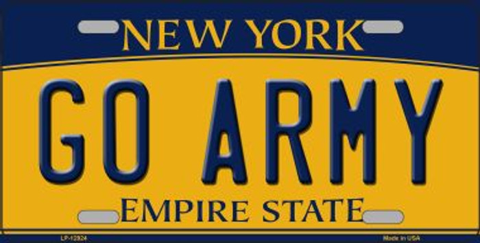 Go Army Novelty Metal License Plate LP-12924
