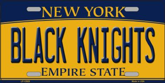 Black Knights Novelty Metal License Plate LP-12926