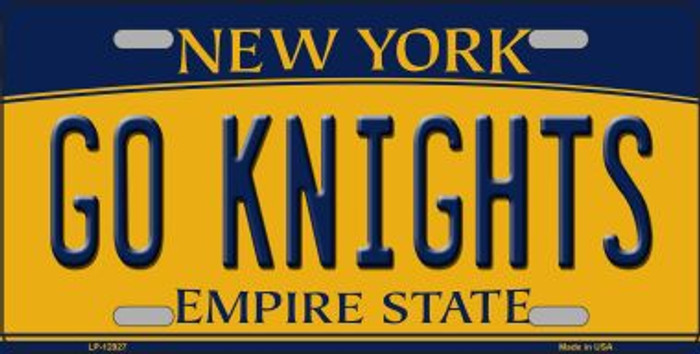 Go Black Knights Novelty Metal License Plate LP-12927