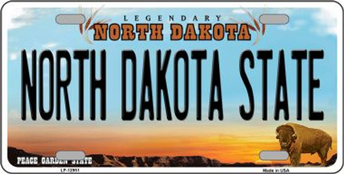 North Dakota State Novelty Metal License Plate LP-12951