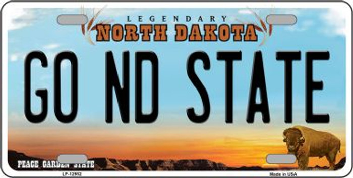 Go North Dakota State Novelty Metal License Plate LP-12952