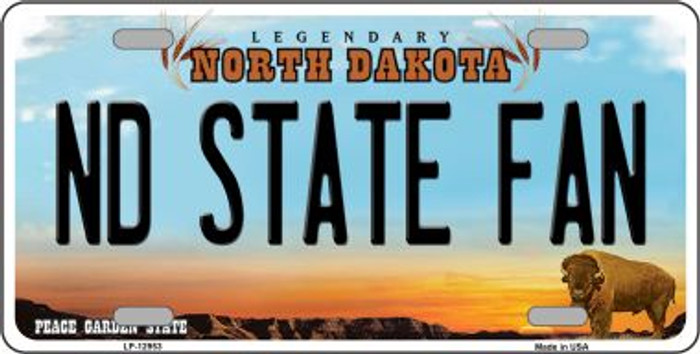 North Dakota State Fan Novelty Metal License Plate LP-12953