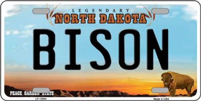 Bison Novelty Metal License Plate LP-12954