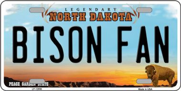 Bison Fan Novelty Metal License Plate LP-12956